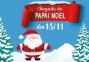 Papai Noel chegará no Carioca Shopping nesta quarta, 15 de novembro