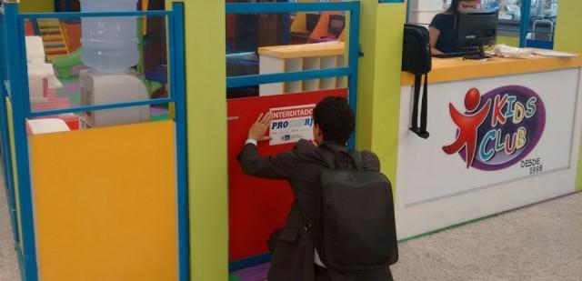 Espaço infantil do Carioca Shopping é interditado - Foto: Divulgação Procon