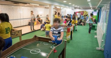 Arena do torcedor é atração para a garotada entrar no clima da Copa